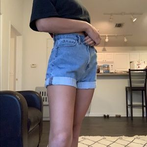Urban Outfitters High Rise Mom Jean Short